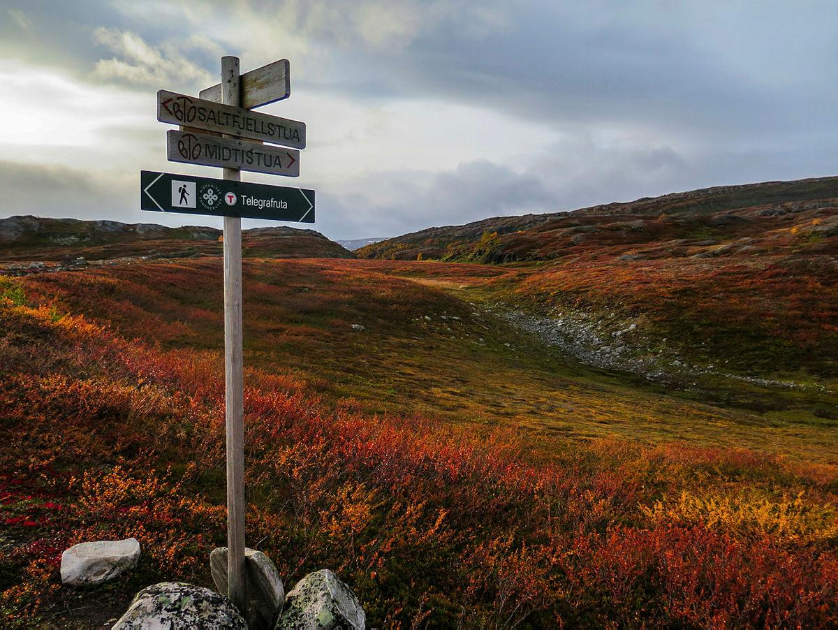 Telegrafruta over saltfjellet. I 1860-årene ble en telegraflinje satt opp, fra Bjellånes i Dunderlandsdalen til Russånes i Saltdalen. Alle som hadde behov for å krysse Saltfjellet på en trygg måte gikk langs Telegraflinja.