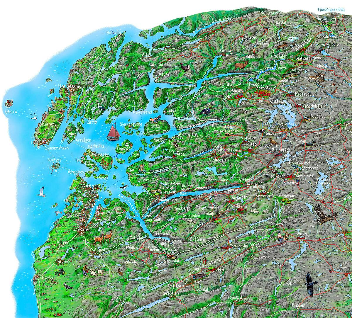 Hytter og ruter i STF