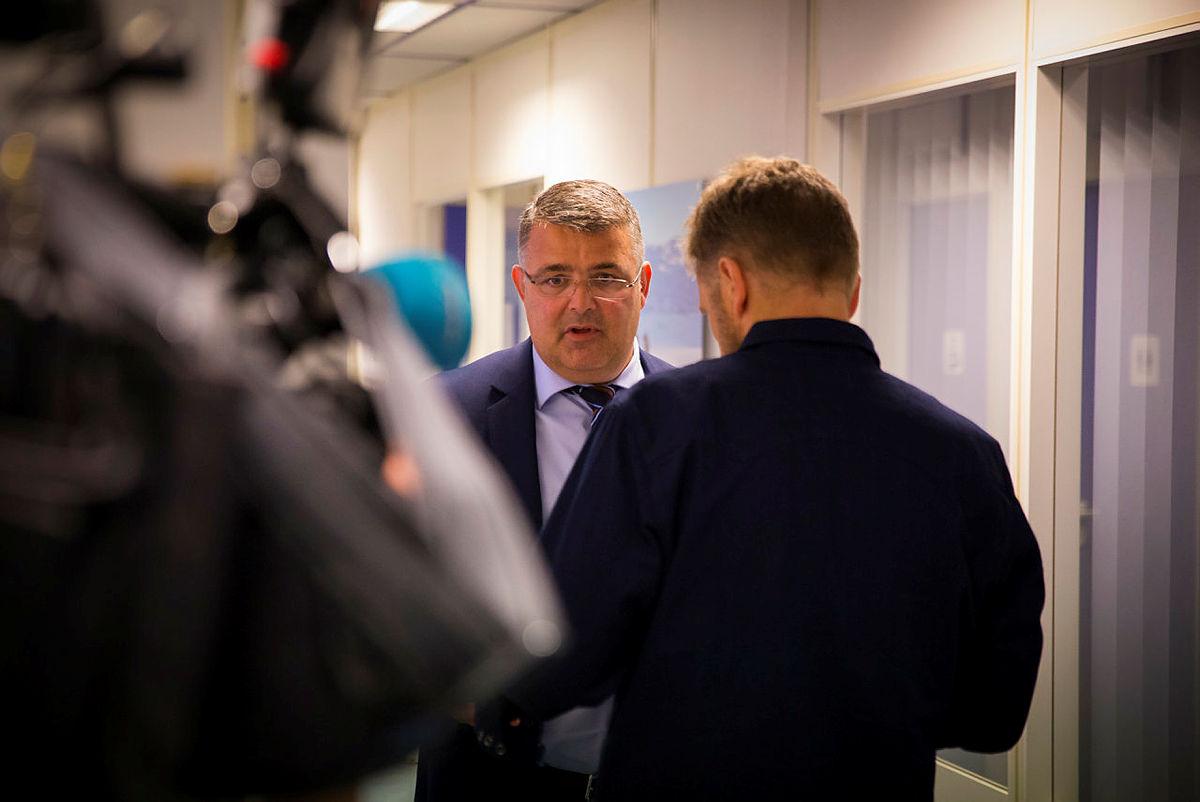 Møte med olje- og energiminister Kjell-Børge Freiberg, 10. september 2018.