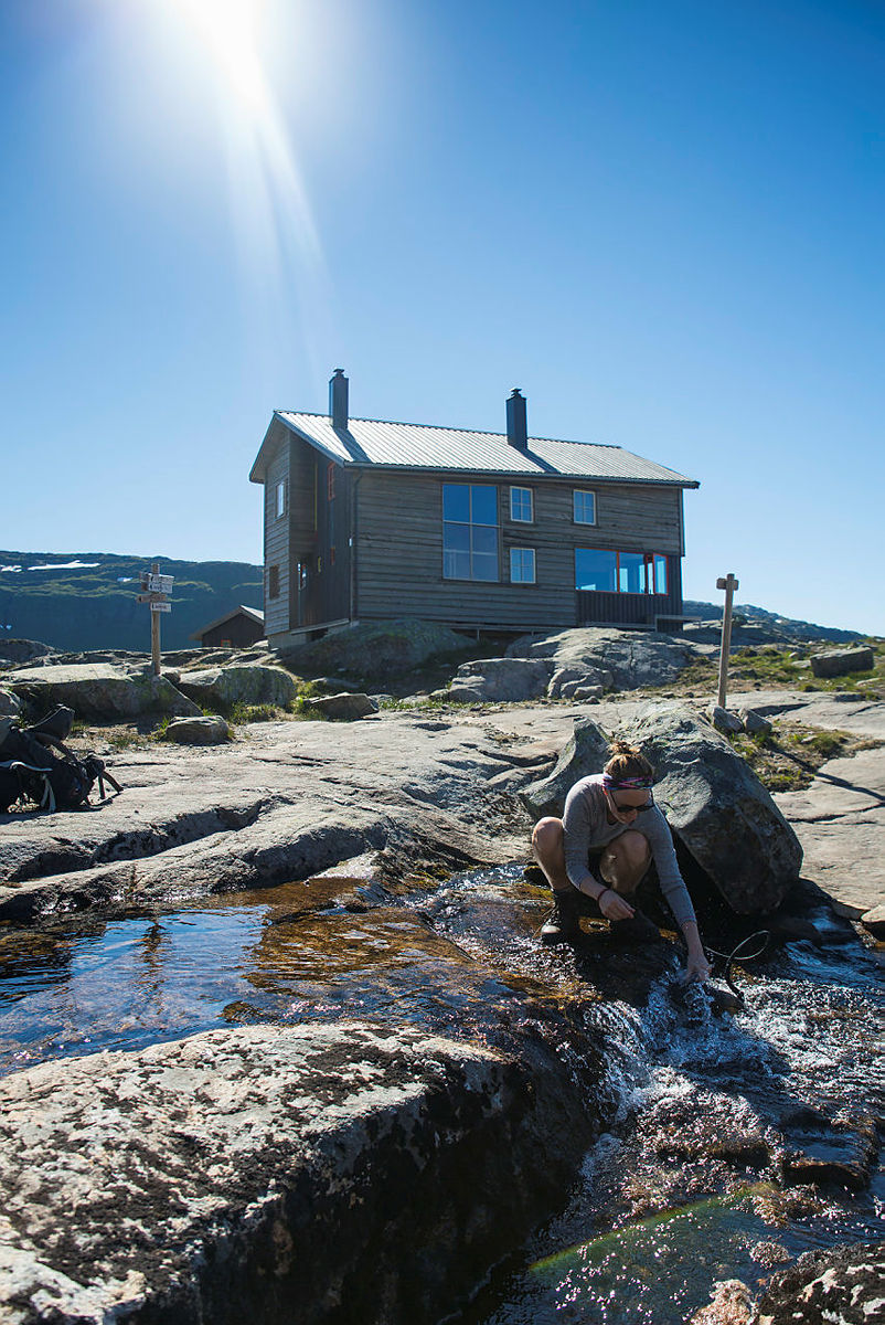 På vei til Gullhorgabu i Bergsdalen, juli 2018.
