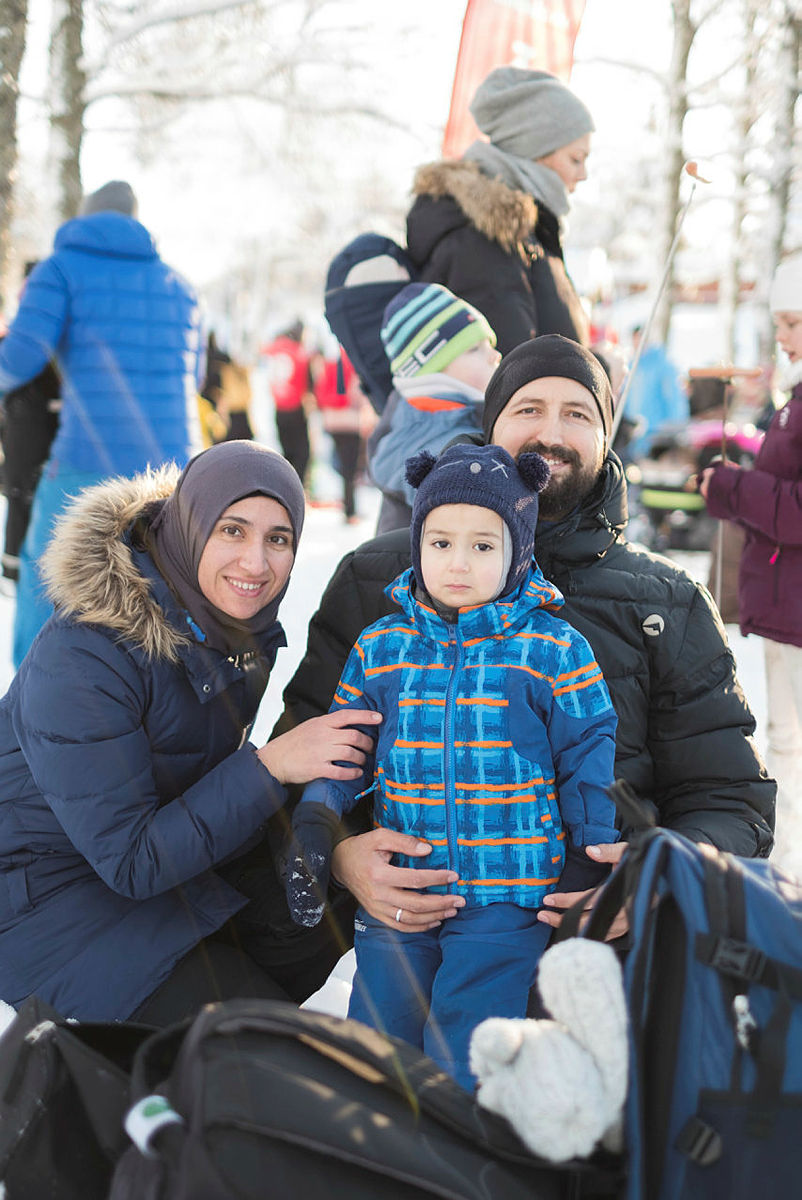 Bilder fra Kom deg ut-dagen/Markadagen på Sognsvann i februar 2017. Selma Bordvik, Hedda Bordvik, Maria Bordvik, Hans Otto Bordvik