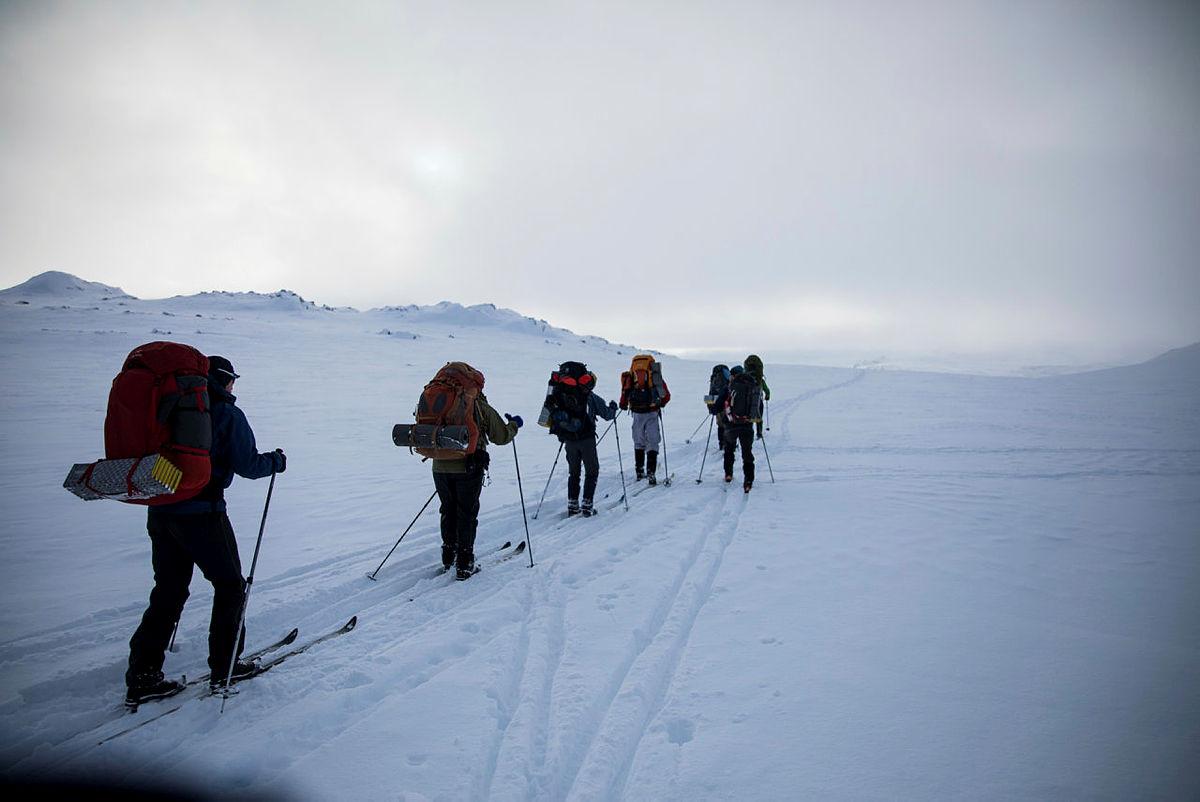 Fjellskitur på vinteren