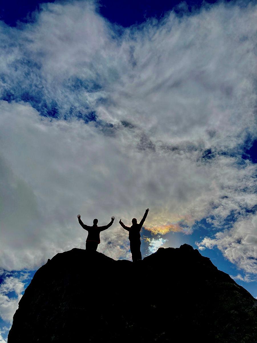 Turleder 1 og Silje Lien Slåtta måtte klatre litt.