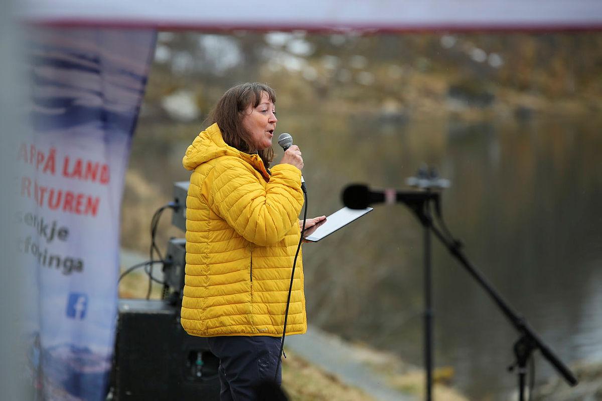 Astrid Aarhus Byrknes, fra Krf holdt appell.