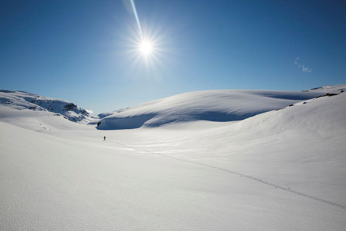 Skitur fra Hadlaskard til Stavali, Hardangervidda vest.