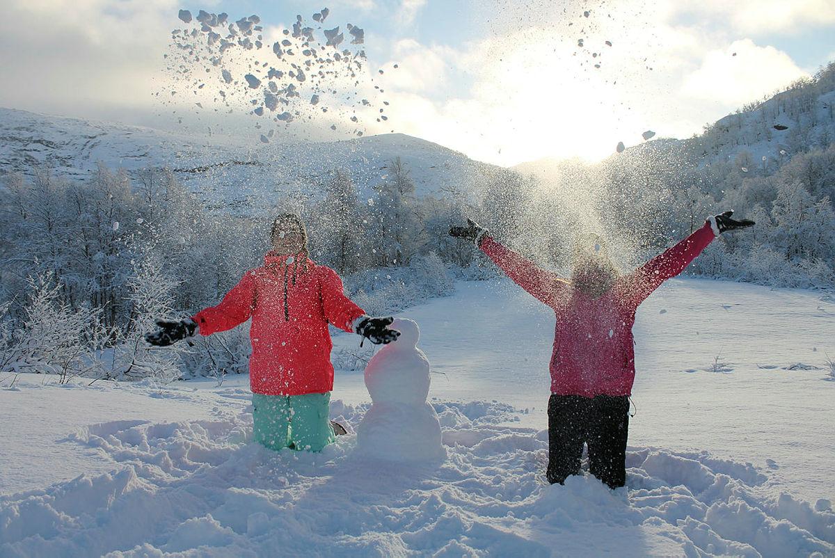 Vinterferie med og uten snø