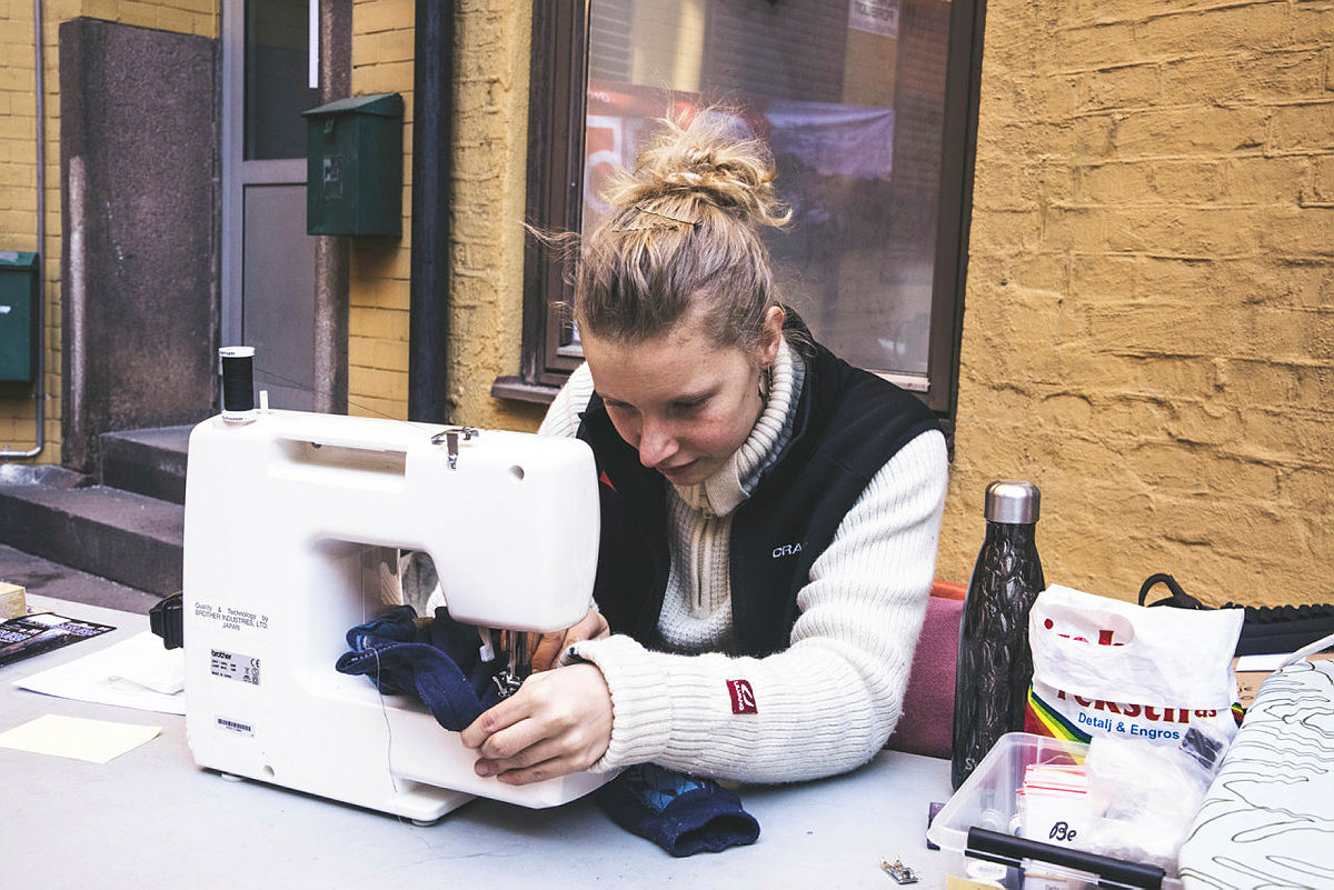 På Grønn Fredag kan du levere turutstyr og -klær til reparasjon.