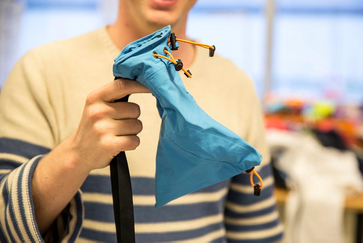 Hans-Martin Erlandsen har laga seg ein kalkpose.