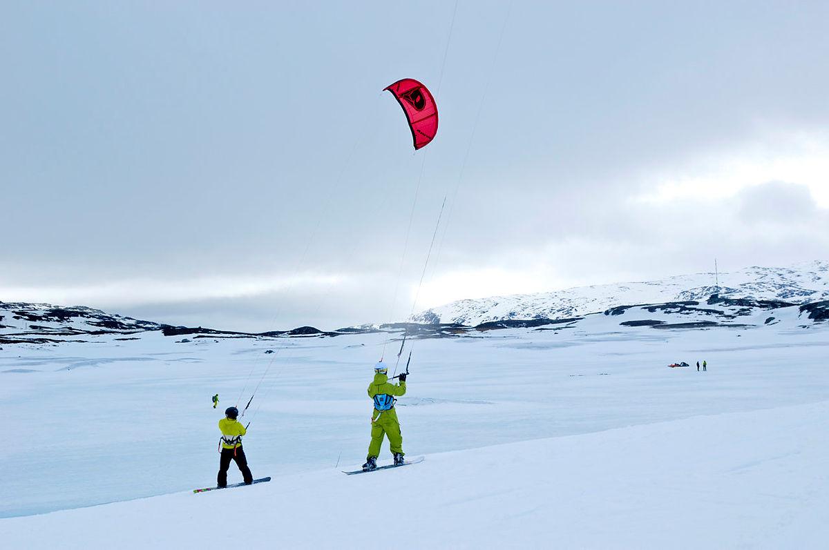 Kiting ved Haukeliseter.