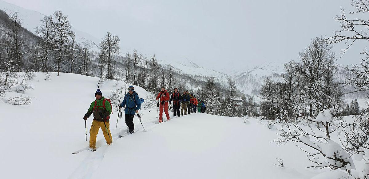 DNT Fjellsport Bergen på skitur.