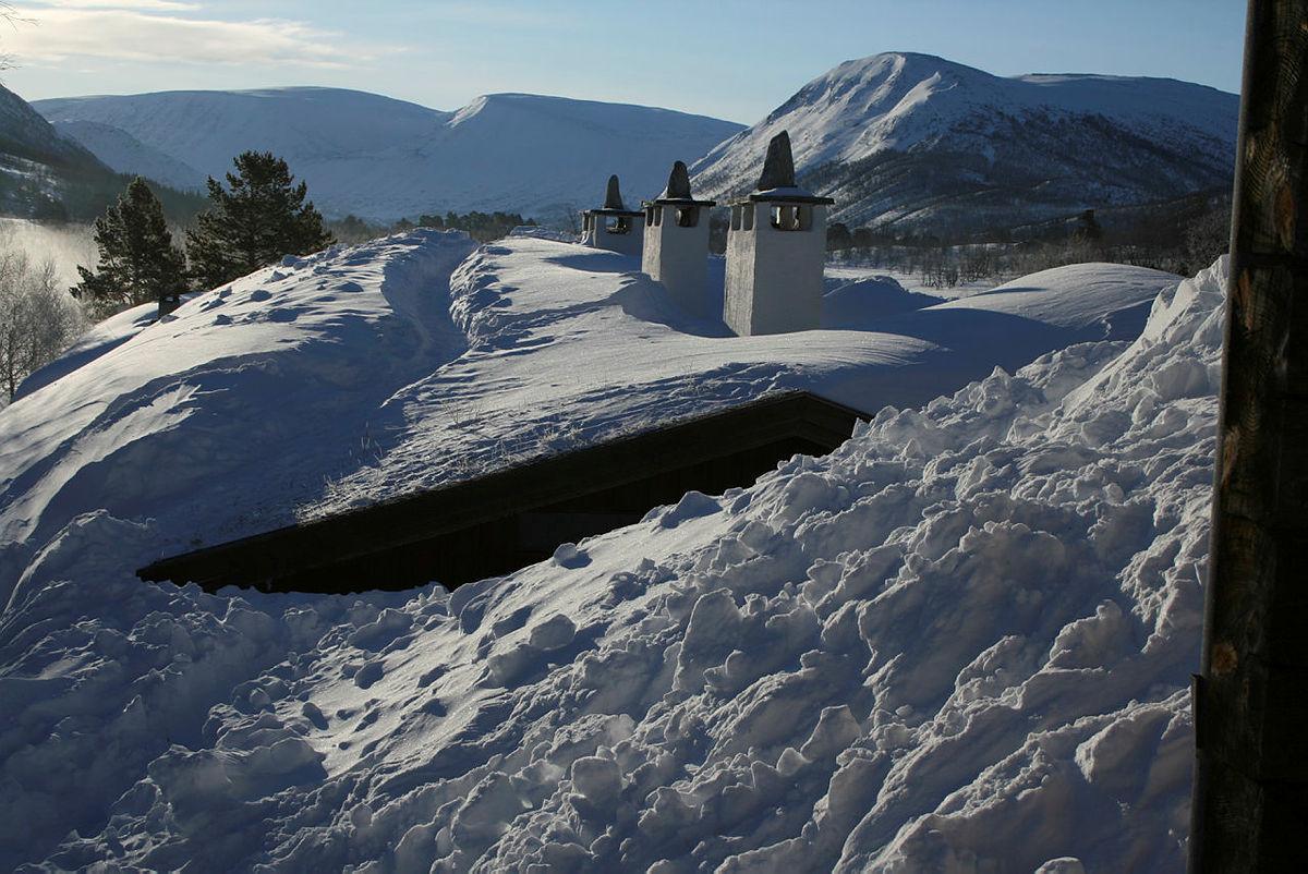 Vinter på Vangshaugen i Grødalen