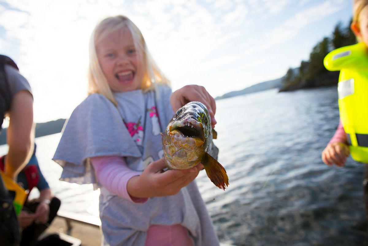 Fisketur er alltid gøy. Kanskje får du noe spennende på kroken?