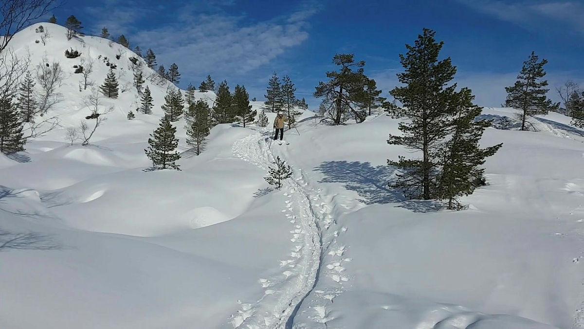 Skitur til Raudvatnet i Samnanger.