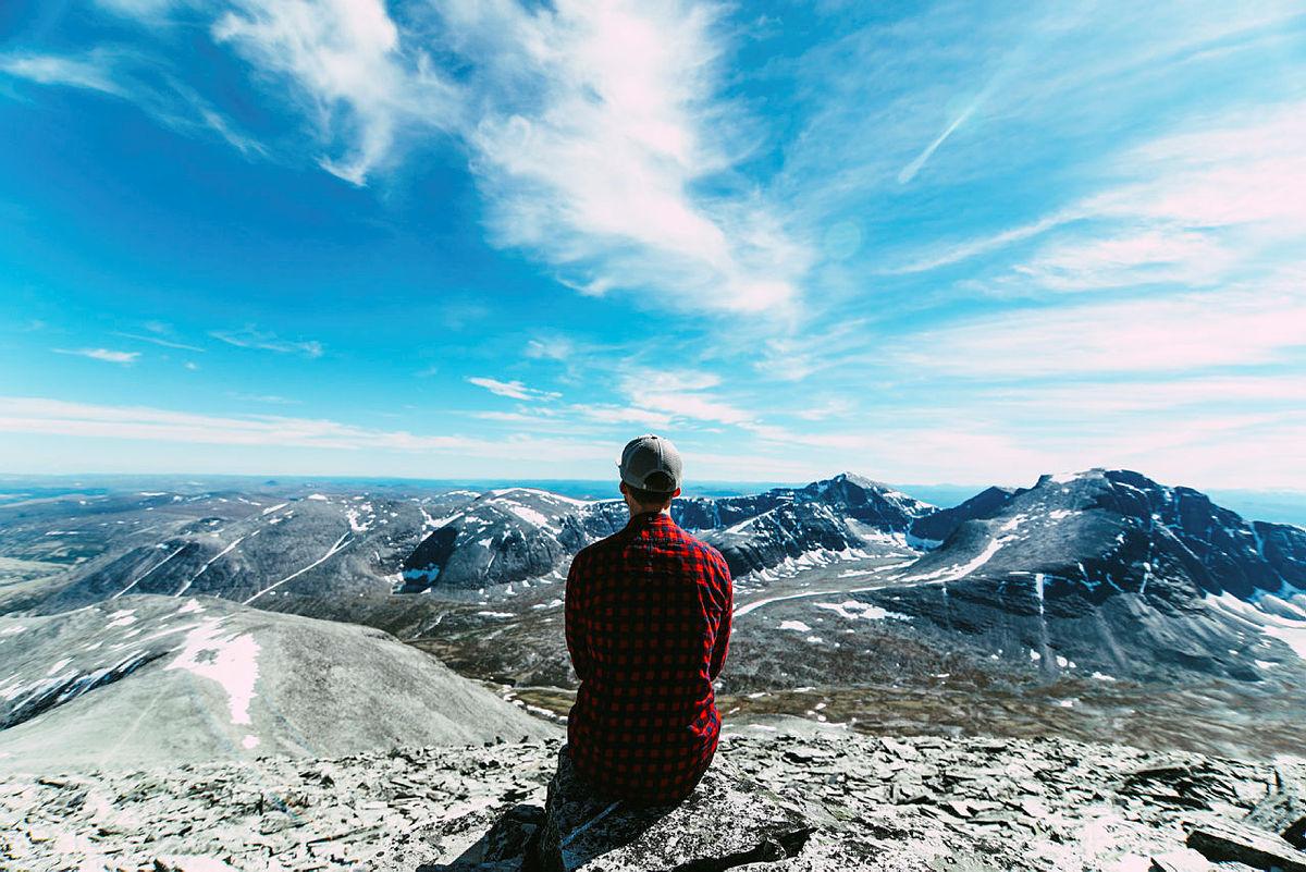 Utsikten fra toppen av Høgronden