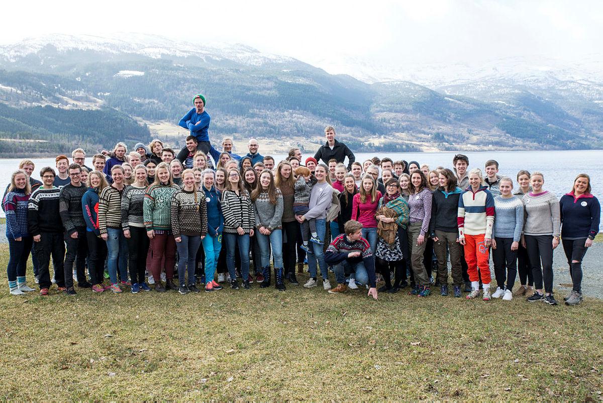 Deltakarane på DNT ung sitt landsmøte 2017 på Voss.