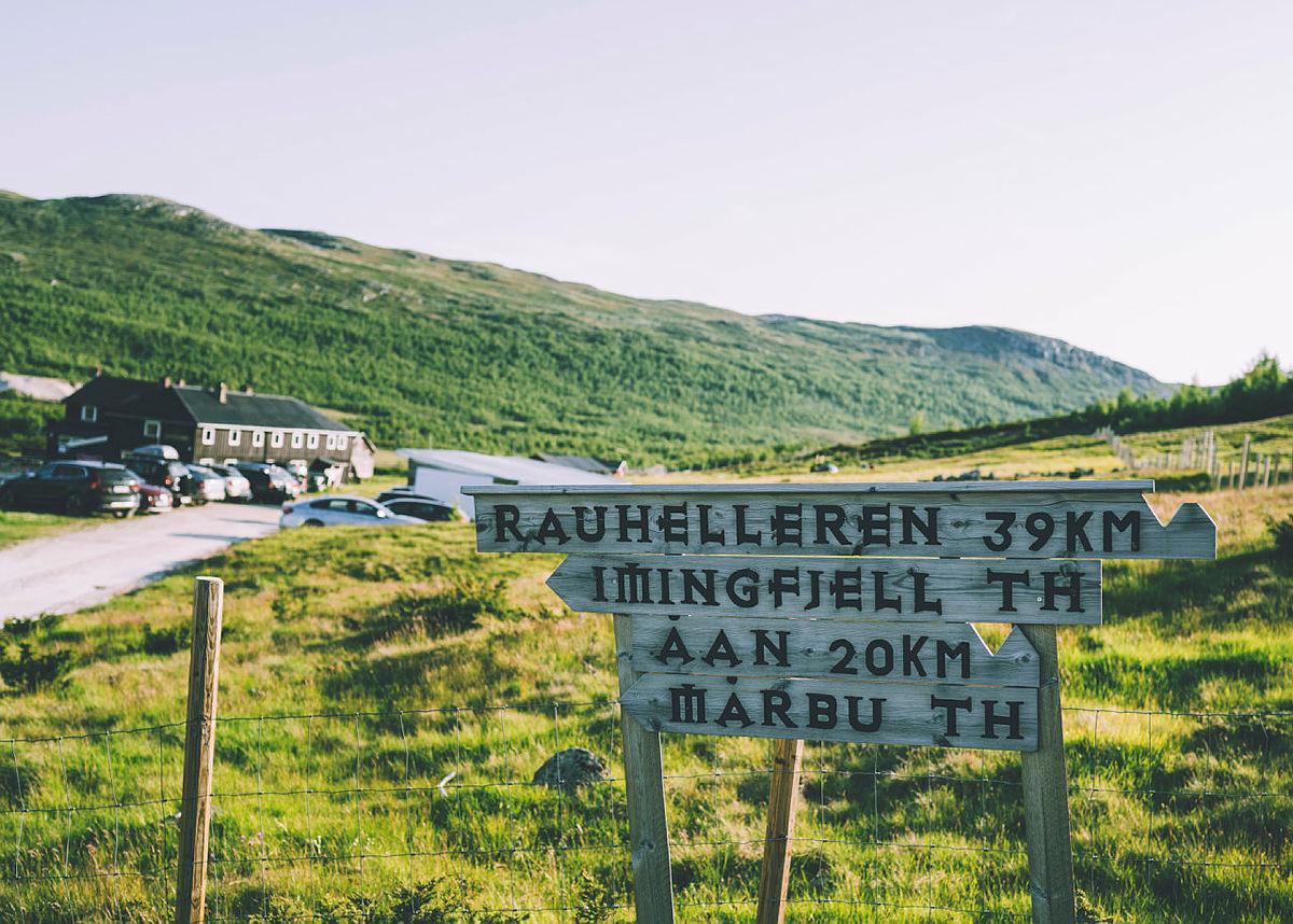 T-merkede ruter fra Solheimstulen til andre DNT-hytter.