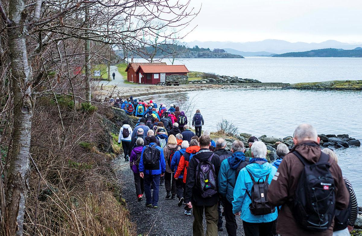 Onsdagsturen med 52 hverdagsturer i Stavanger 20. februar 2019. Storhaug rundt med turleder Per A. Thorbjørnsen.