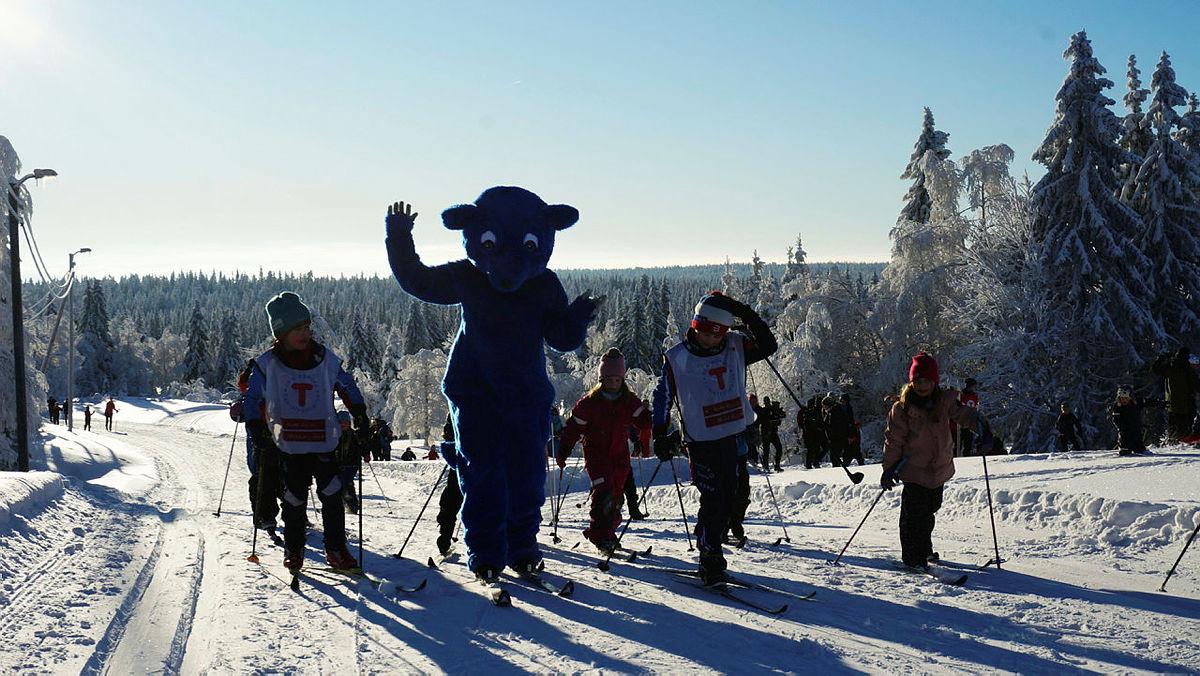 Fantastiske vinterforhold og -vær på utebursdagen i Hamar.