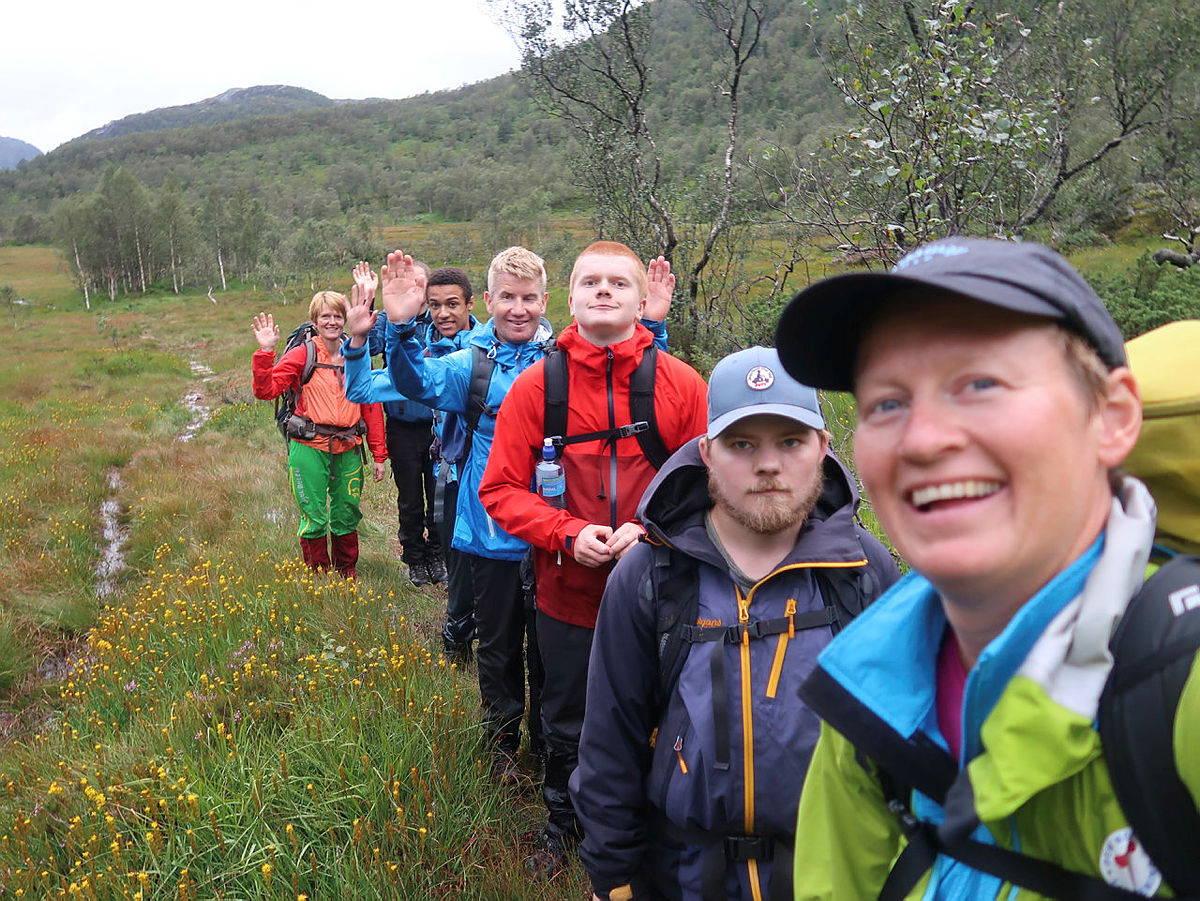Ung på Tur gruppe i Bjerkreimsheiene 2019