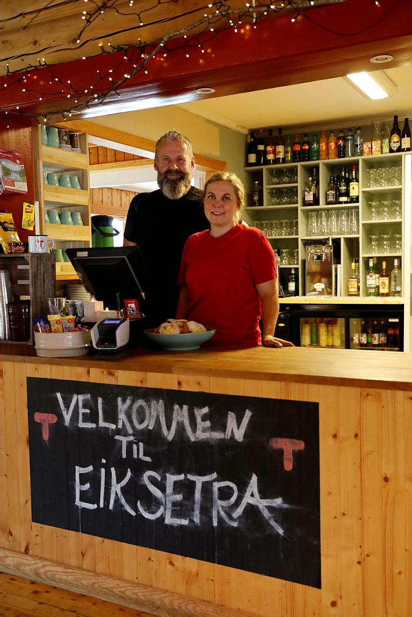 Vertskapet på Eiksetra fikk en travel dag i kafeen.