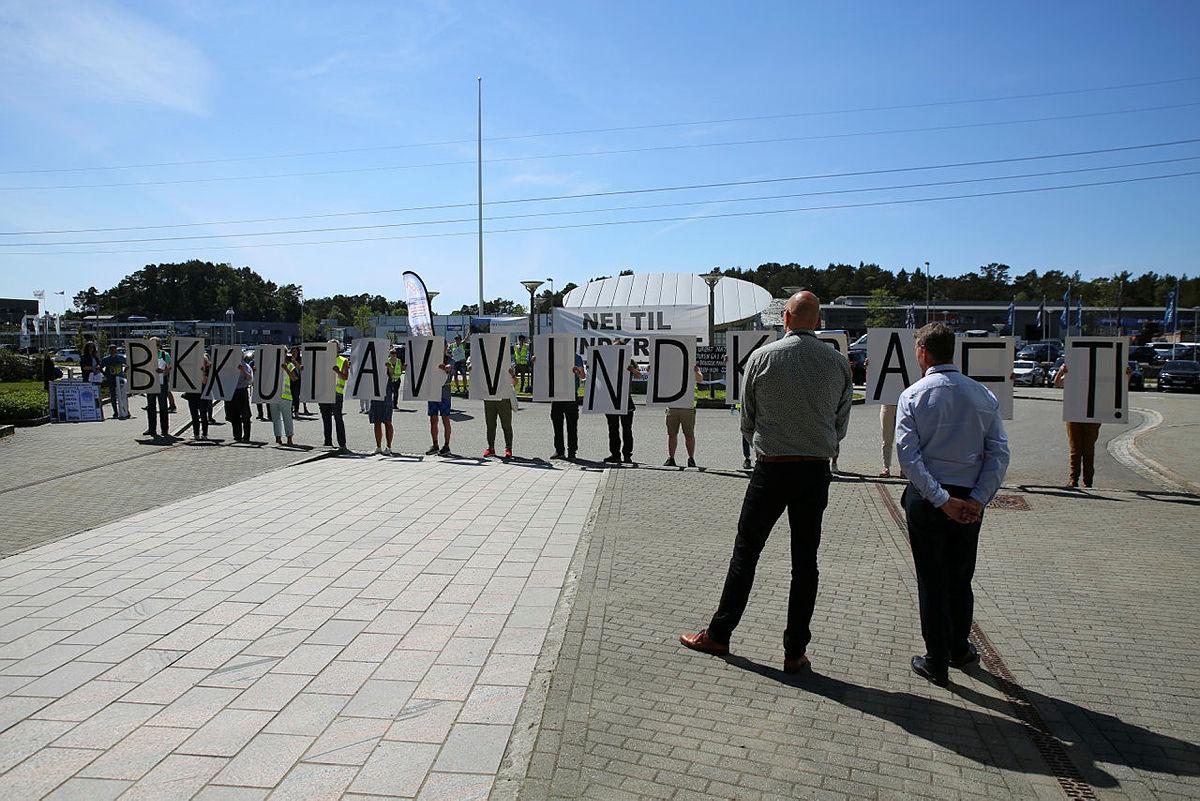 Kraftfull markering mot BKKs vindkraftprosjekt