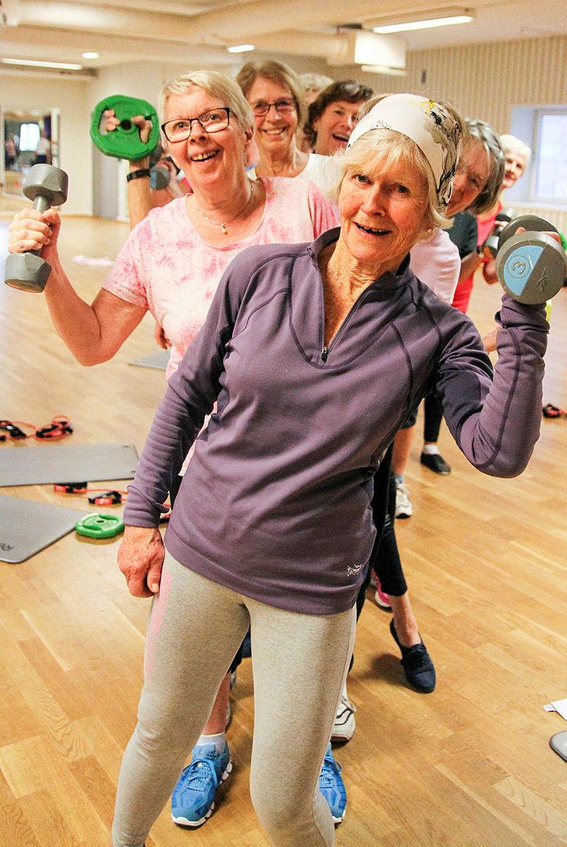 Seniortrimmen på SATS Oslo Spektrum i regi av DNT Oslo og Omegn.