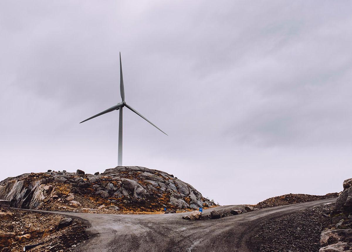 Vindkraftbefaring i Egersund Vindkraftverk.