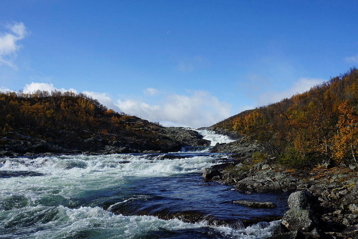 Argehovdfossen er en fin svipptur fra Mogen Turisthytte.