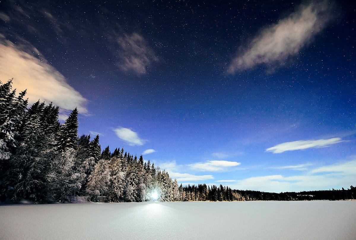 Kveldstur i Oslomarka i februar 2016.