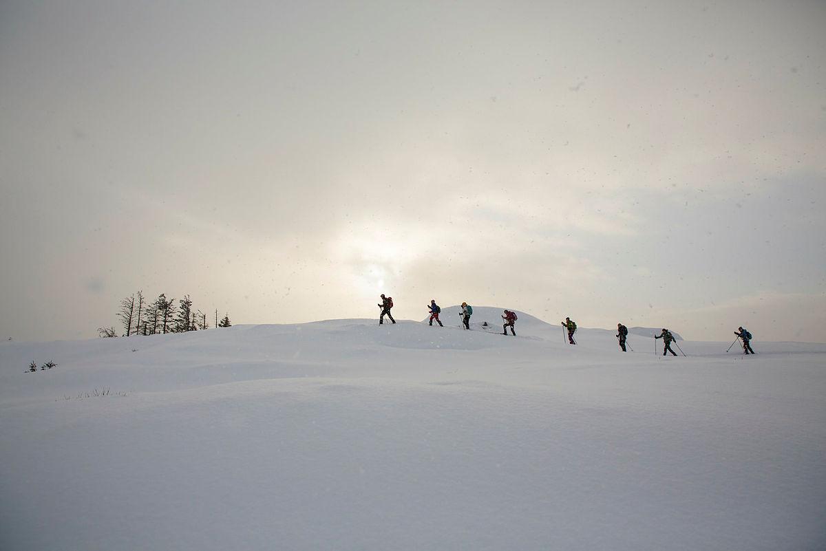 Skitur til Fløyen og Blåmanen, 4. februar 2021.