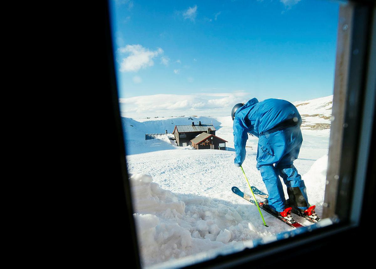 Ski in-ski out!