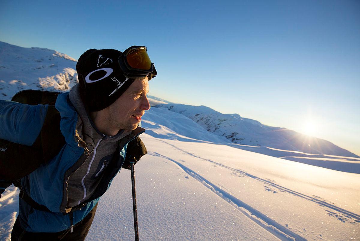DNT fyller 150 år, noe som skal feires på mange måter i 2018. Skitur til Kiellandbu i Bergsdalen, januar 2017.