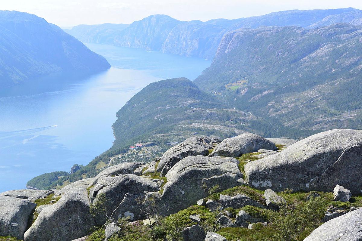 utsikt over Lysefjorden