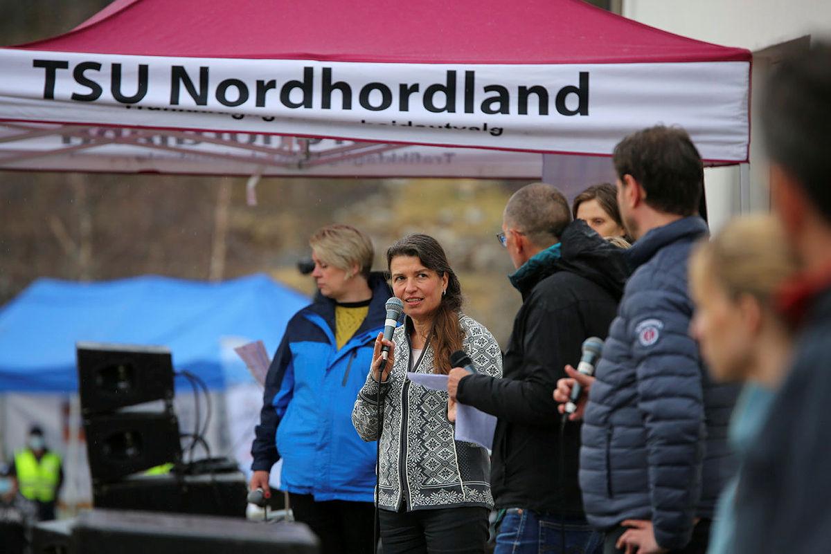Liv Kari Eskeland fra Høyre svarer for seg etter appellen.