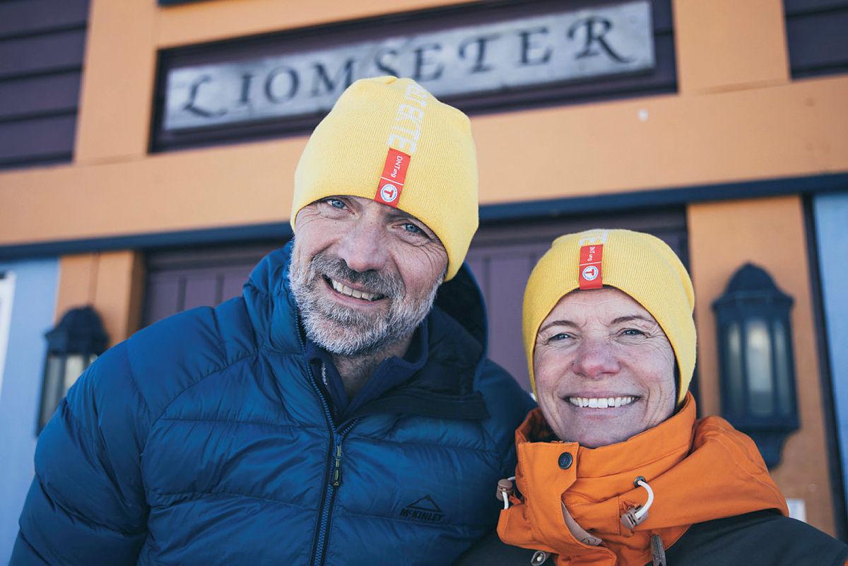 Kjell Arne og Hilde Grøntjernet på Liomseter i Langsua