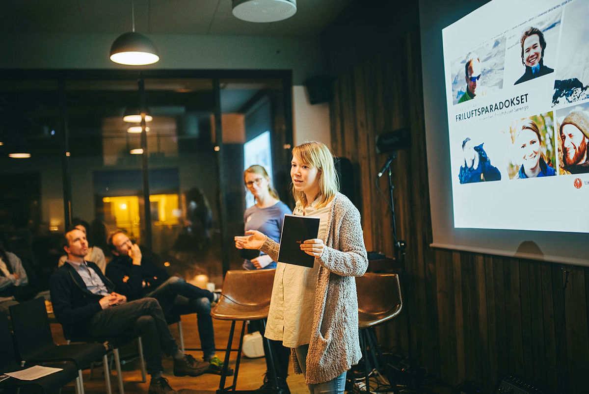 Bilder fra Klimaseminaret på Friluftshuset på Sørenga 22. november.