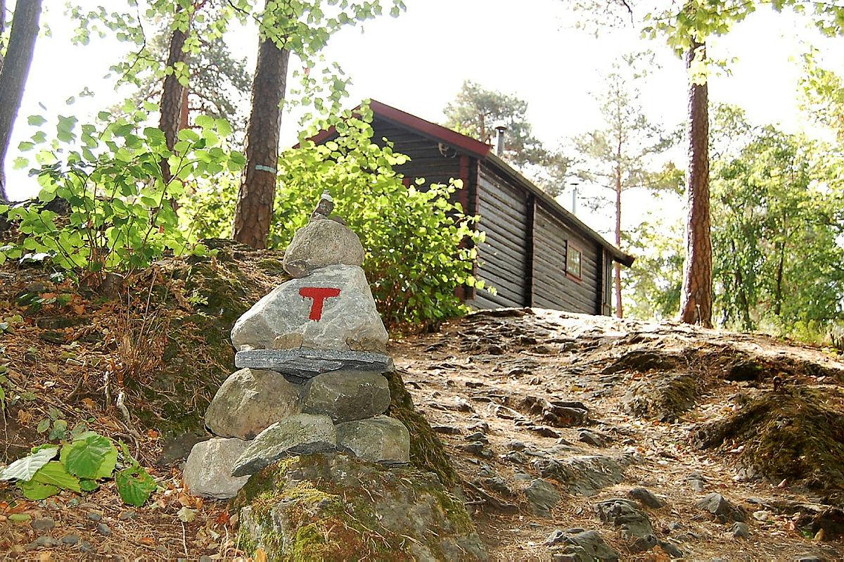DNT hytta Hovinkoia ligger på en liten topp på Norsk Folkemuseum