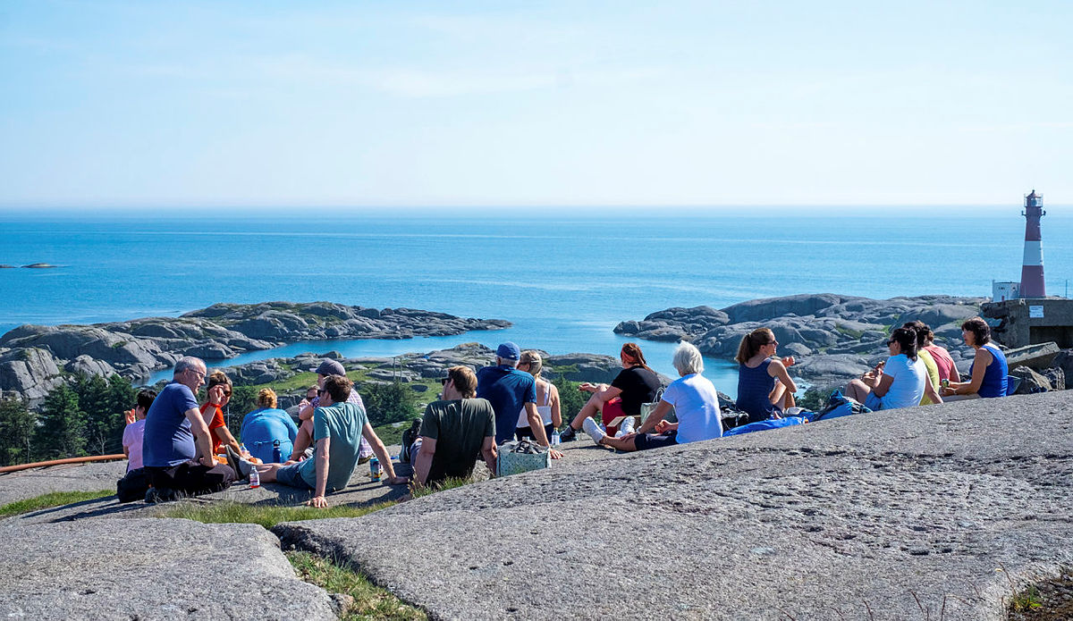 Adminitrasjonen i STF på sommeravslutning på Eigerøy i 2020.