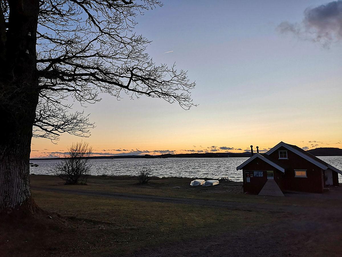 Nyt vinterlyset på DNT Øitangen.
