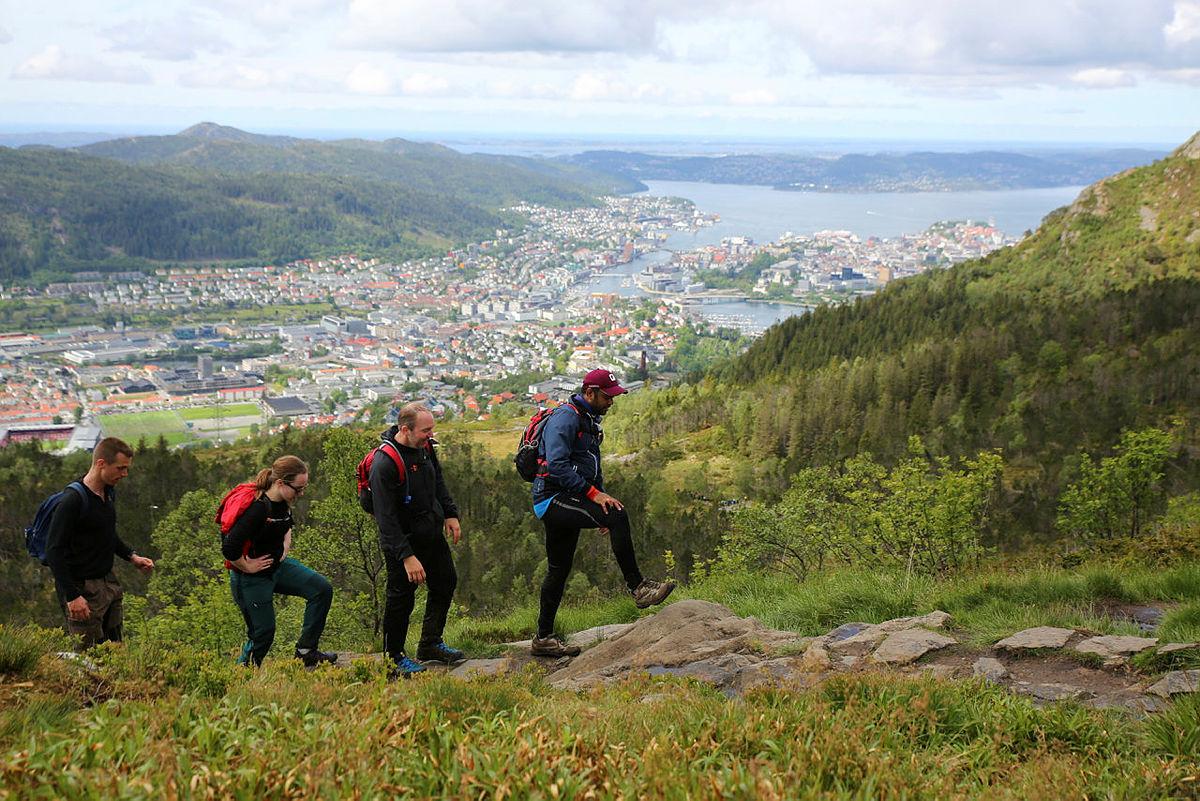 Utsikt over byen fra Ulriken