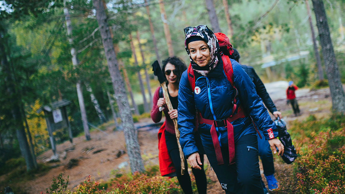 Bilder tatt på tur med Havva Cukurkuaya og DNT Drammen på vei opp mot Kjøsterudjuvet.