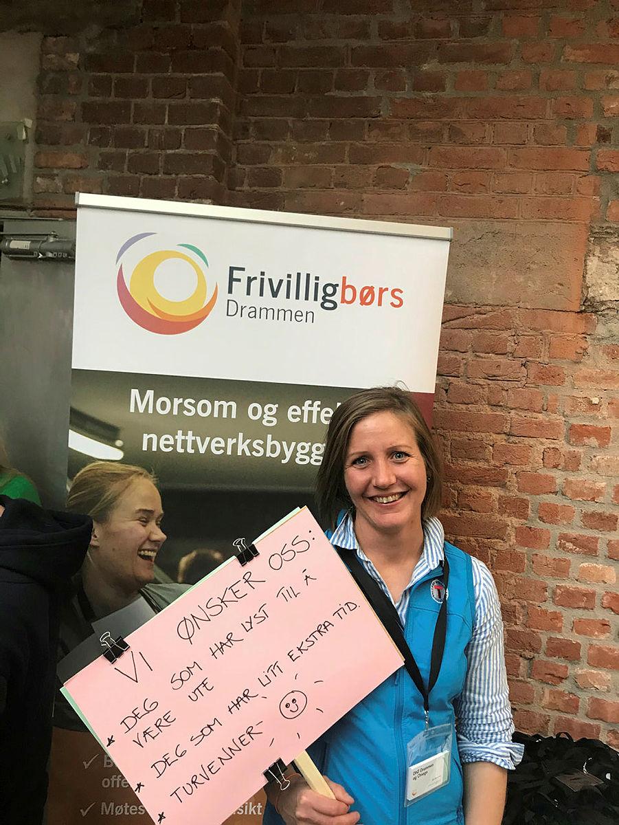 Silje Maurtveten på Frivilligbørs Drammen okt-2019