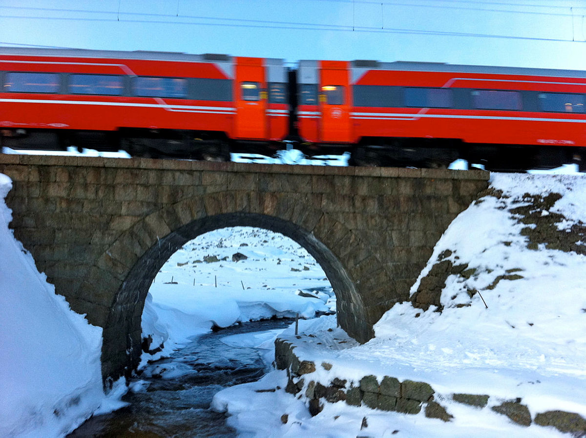 Bergensbanen ved fjellovergangen Finse