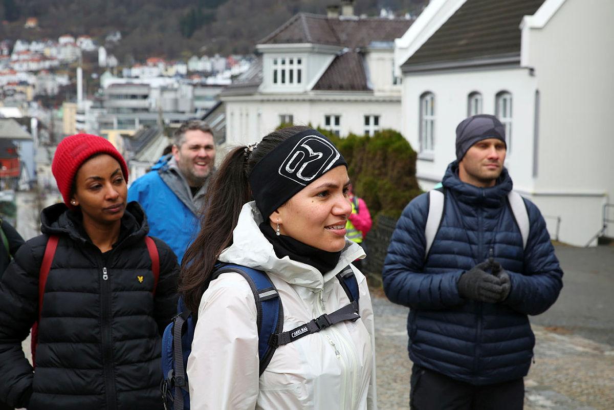 Til Topps på tur til Løvstakken, februar 2021.