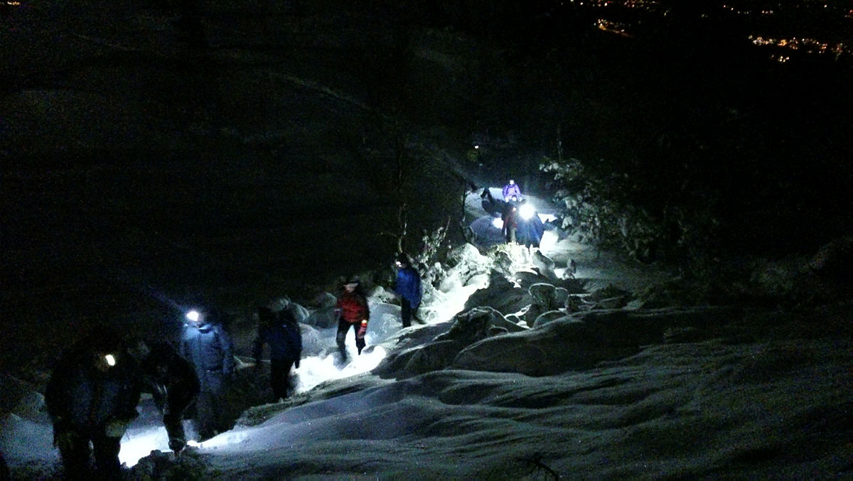 Gravdalsfjellet_03.02.15. Tur med Byfjellstrimmen. Foto av Bjørnar Sørensen