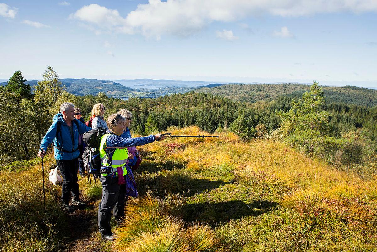 Å gå på tur sammen med en turgruppe og oppdage nye steder synes mange er veldig kjekt. Denne turen gikk til Solkbakkafjellet ved Bontveit.