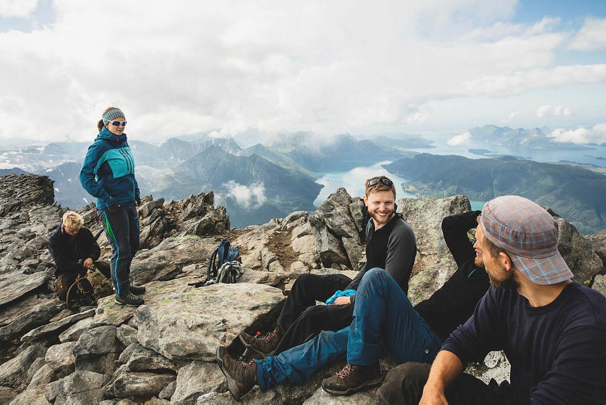 På toppen av Helgelandsbukken.