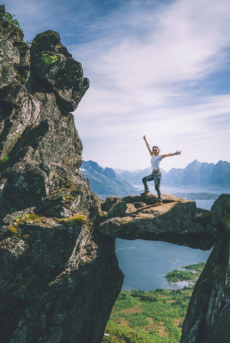 Topptur til Djevelporten i Svolvær.