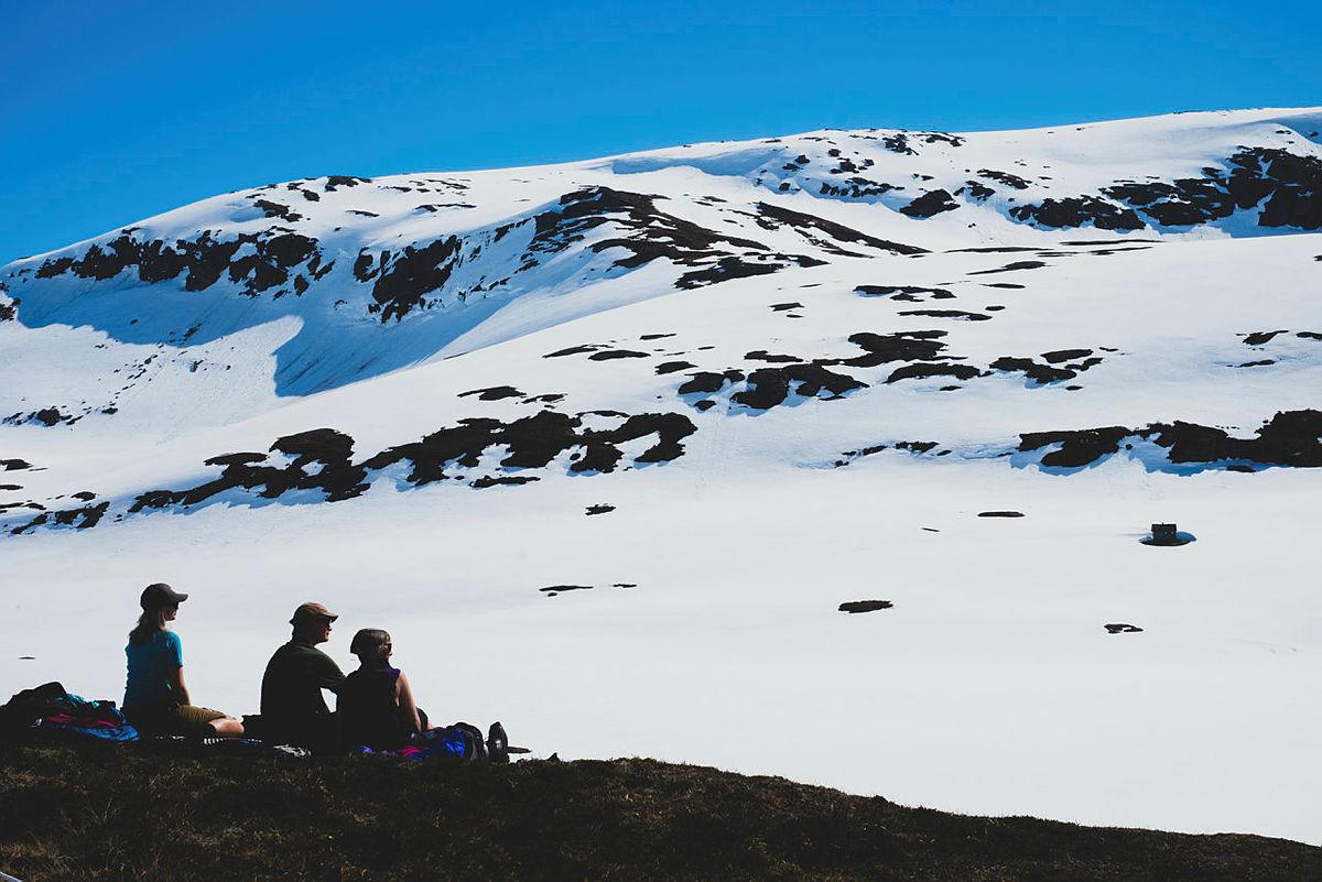 Skitur i fint vintervær til Store Kvia og Borkebua på Ringebufjellet.