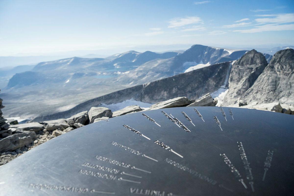 Utsikt fra toppen av Snøhette